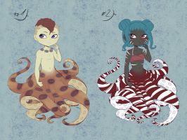 Cecaelia chibi adoptables 2-3 [OPEN] by sonisadopts