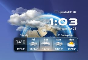 Earth Weather for xwidget by Jimking