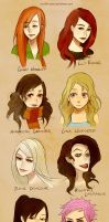 Harry Potter Girls by chuwenjie