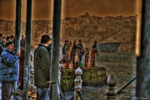 FISHERMEN AT THE BOSPHORUS by mecengineer