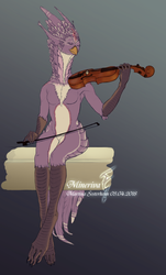 Violin playing by Mineriva