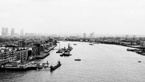 View east from the Tower Bridge by UdoChristmann
