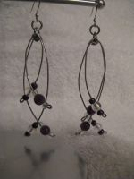 Purple Strand earrings by DeviantChainMaille