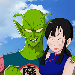 King piccolo and Chi-chi by Shablagoooo