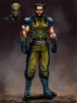 Wolverine MCU ConceptArt (LINK TO THE PROCESS) by Hugo-Souza