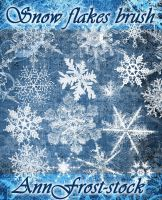 Snow flakes brush by AnnFrost-stock