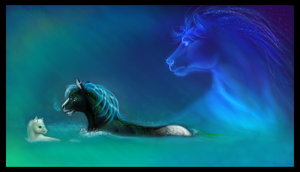 - water horses - by Owlivia