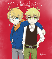 hetalia - America and England by skyna