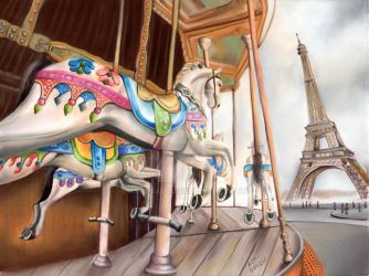 Carrousel in Paris by Aspi-Galou