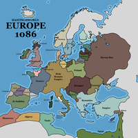 Hastingsworld - Europe 1086 by Neethis