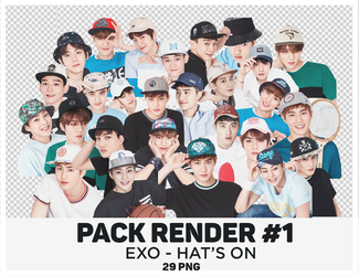 [260616] EXO - HAT'S ON PNG by Only148cm