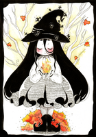 Little autumn witch by Sumimi-pyon