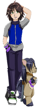 Digimon Network: Masato and Equimon by AwesomebyAccident