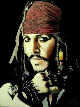 Captain Jack Sparrow Color by golfiscool