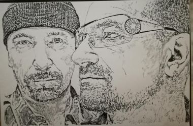 Bono and the Edge by CLane86