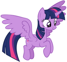 Twilight Sparkle Flying Overhead by AndoAnimalia