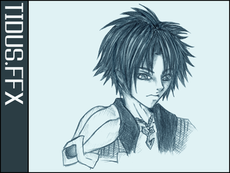 Tidus::Lineart by NeverMindNinpo