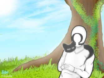 Under the tree (Background practice) by KayasaYT