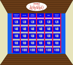 Original Jeopardy! Board Round Double by mrentertainment