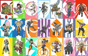 Overwatch Character Cards by BritAndBran