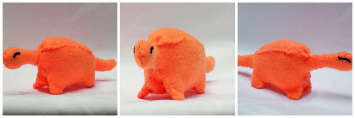 X Yuki The Little Orange Dinosaur X by inlovewithgingerss