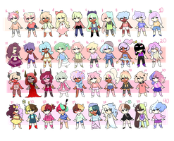 40 Adopts |OPEN| by Sugadoptables
