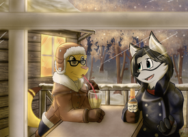 [Commission] Cold Drinks by infinitedge2u