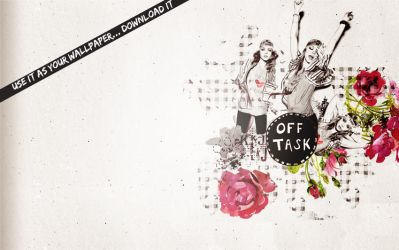 Off task- wallpaper. by asiula23
