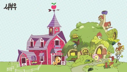 Apple jack, Flutter shy house by Booseo
