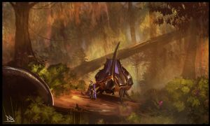 speedpaint - insect rider by RogierB