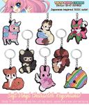 TPS: Soft Vinyl Character Keychains by MoogleGurl