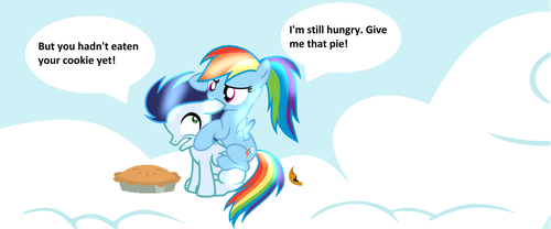 Give Me Your Pie! by princessblueyshine