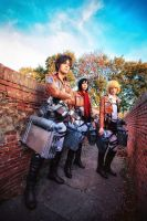 Eren, Armin, Mikasa Cosplay - Show off by hakucosplay