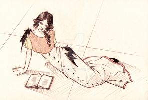 Young Beatrice Baudelaire by Simbelmina