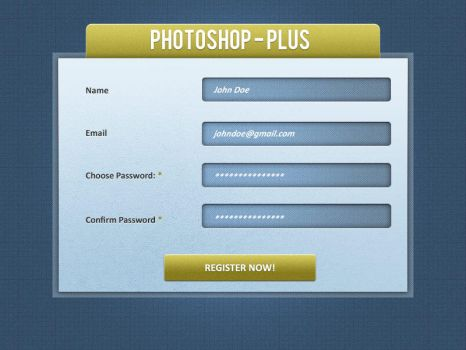 Signup form by bharani91