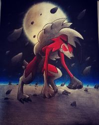 Lycanroc Midnight Form by AbirAhmed