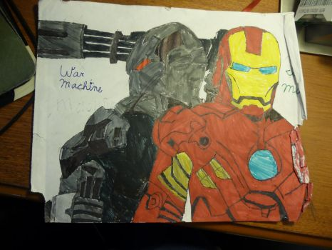 Iron man and War machine by TheCobaltAssassin