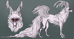 Comm: Albino Reference Sheet by MischievousRaven