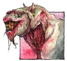 Zombie Dogfood Spokesbeast by caramitten