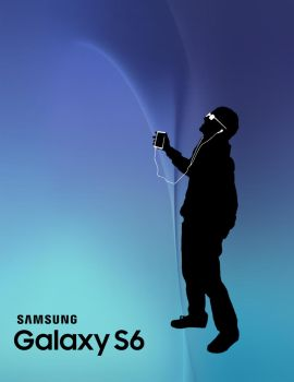 iPod Silhouette Ad for Galaxy S6 by SoItEnds