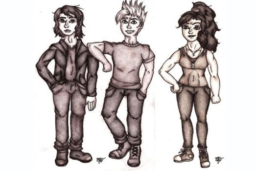 Casey, Archie, and Kate - Commission by LaMissMoxie