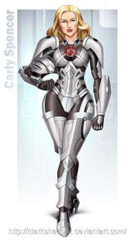 COMMISSION - Carly Autobot Armour Suit (color) by DarkShadowArtworks