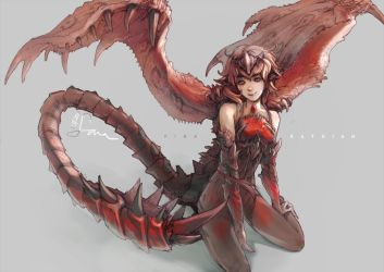 pink rathian by AlexiusSana