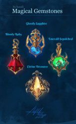 CLOSED Adoptable: Magical Gemstones by Hassly