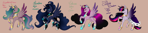MLP Sombra X Princesses Adopts [CLOSED] by MinElvi