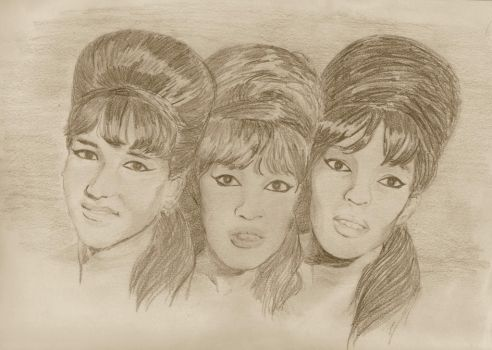60's girl group, The Ronettes by Dooodlebug3000