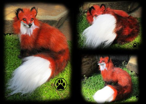 SOLD Volk the red fox poseable art doll! by CreaturesofNat