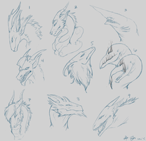 Gifts: Dragon Headshots by xXNuclearXx