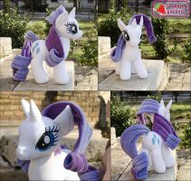 Rarity plushie by SewberryGarden