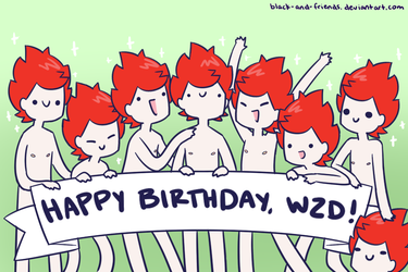 HAPPY BIRTHDAY WZD by artist-black